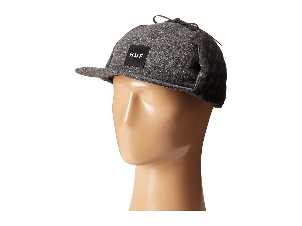 HUF - Brushed Tweed Dog Ear Volley (Black) Caps