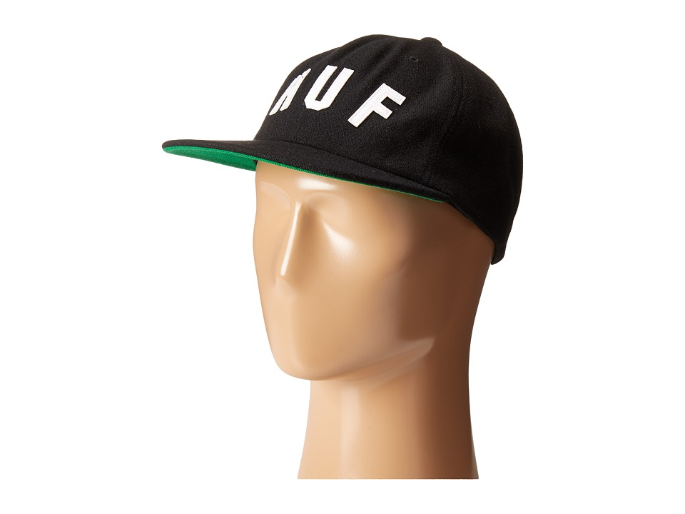 HUF - Shortstop 6 Panel (Black) Caps