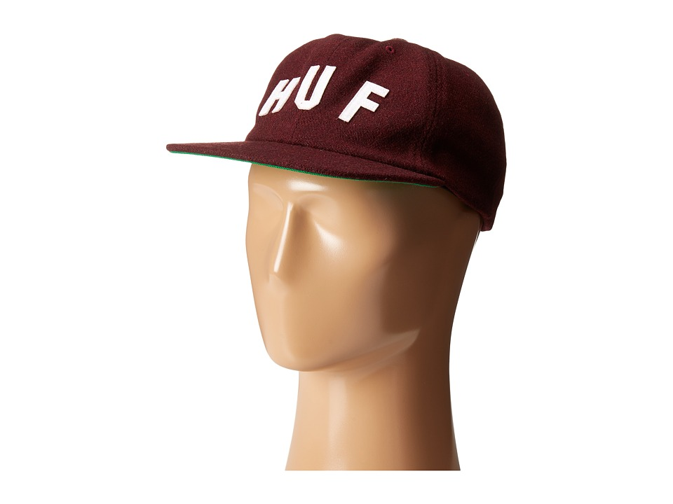 HUF - Shortstop 6 Panel (Wine) Caps