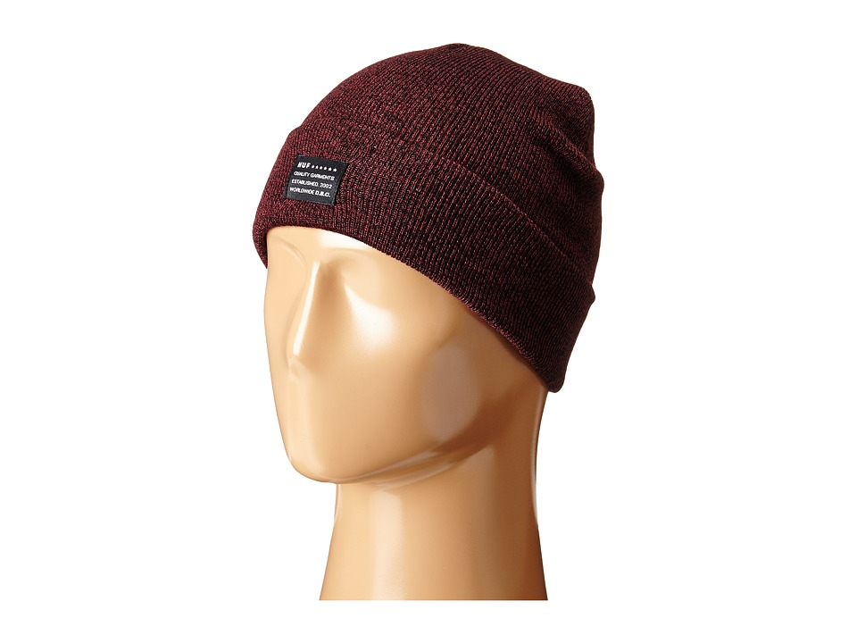 HUF - Mixed Yarn Beanie (Wine) Beanies