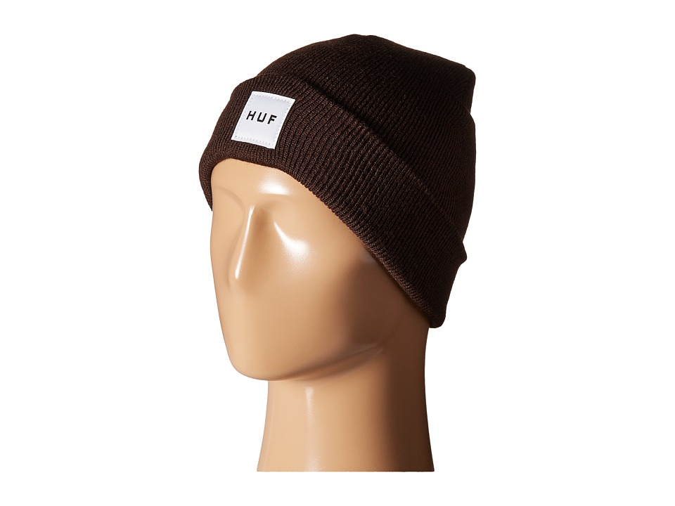 HUF - Box Logo Beanie (Brown 1) Beanies