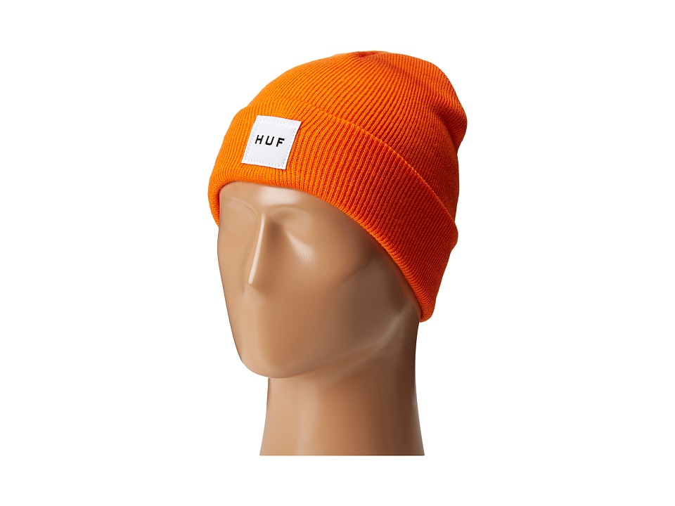HUF - Box Logo Beanie (Orange) Beanies