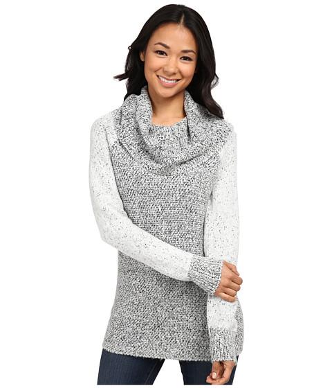 Calvin Klein - Two-Tone Cowl Neck Sweater (White) Women's Sweater