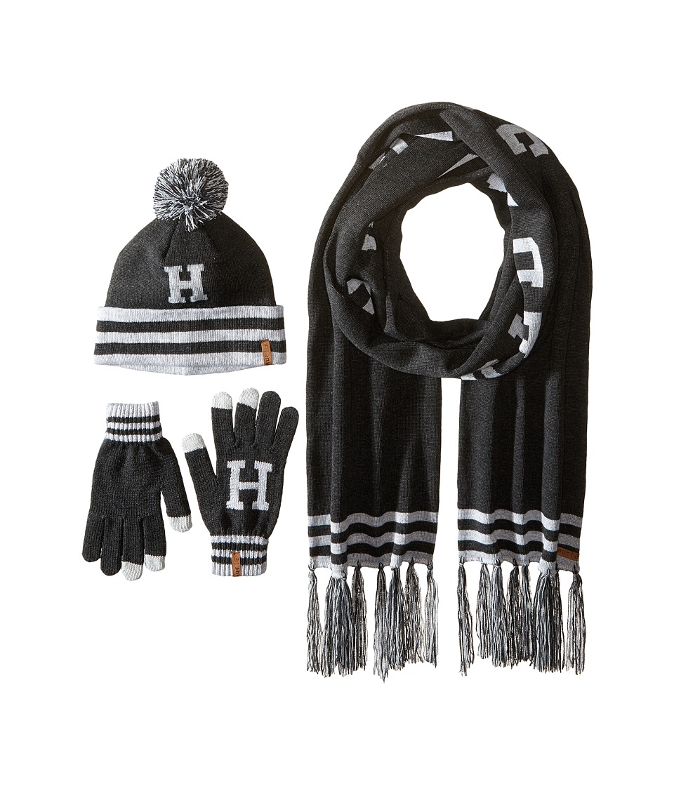 HUF - Collegiate H Gift Set (Charcoal) Scarves