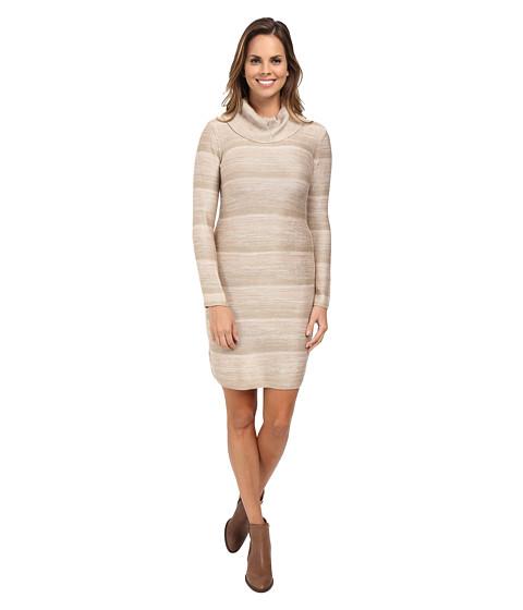 Calvin Klein - Space Dyed Mock Neck Sweater Dress (Latte Multi) Women's Dress