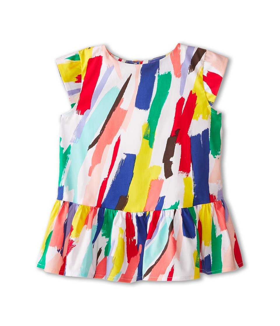 Kate Spade New York Kids - Peplum Top (Toddler/Little Kids) (Brush Stroke Print) Girl's Clothing