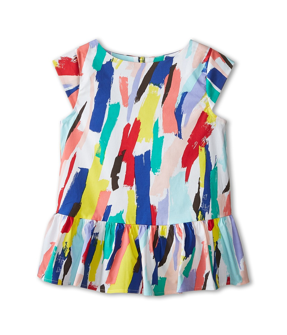 Kate Spade New York Kids - Peplum Top (Big Kids) (Brush Stroke Print) Girl's Clothing
