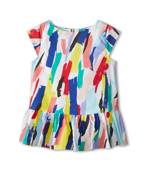 Kate Spade New York Kids - Peplum Top (Big Kids) (Brush Stroke Print) Girl