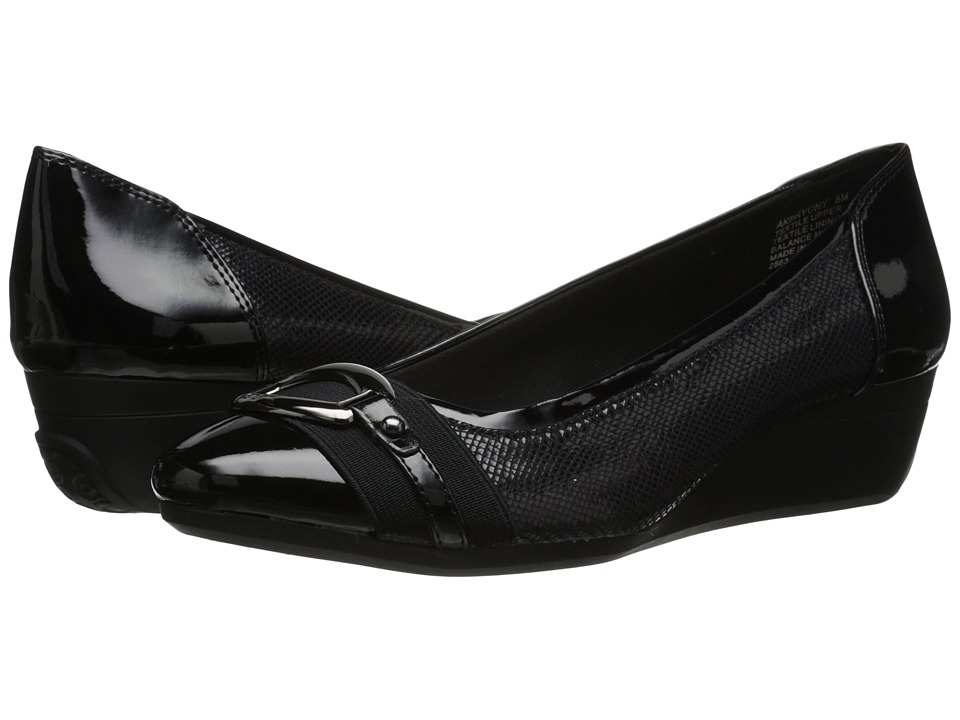 Anne Klein - Bryony (Black Reptile) Women's Slip on Shoes