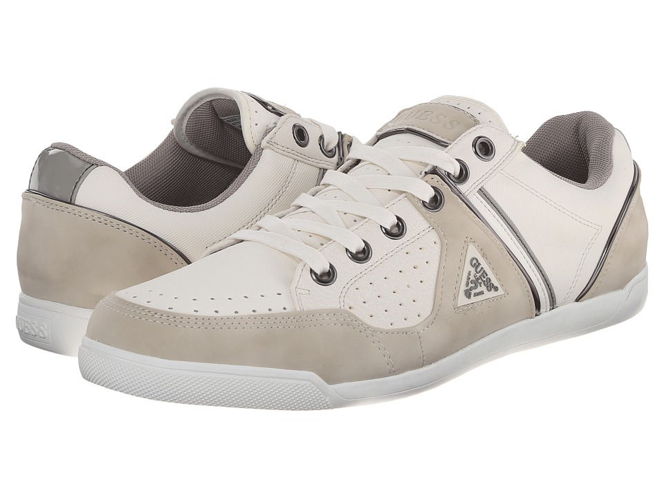 GUESS Javonte (White) Men's Lace up casual Shoes