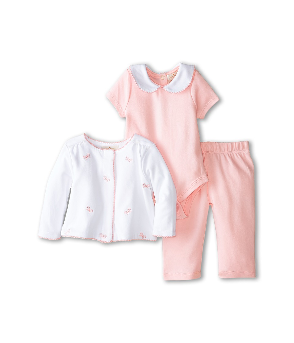 Kate Spade New York Kids - Three-Piece Bow Set (White/Balloon Pink) Girl's Active Sets