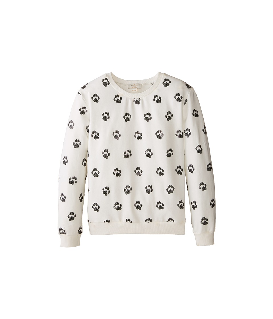 Kate Spade New York Kids - Embellished Paw Sweatshirt (Big Kids) (Paw Aop) Girl's Sweatshirt