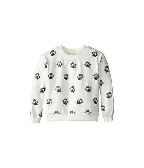 Kate Spade New York Kids - Embellished Paw Sweatshirt (Toddler/Little Kids) (Paw Aop) Girl's Sweatshirt