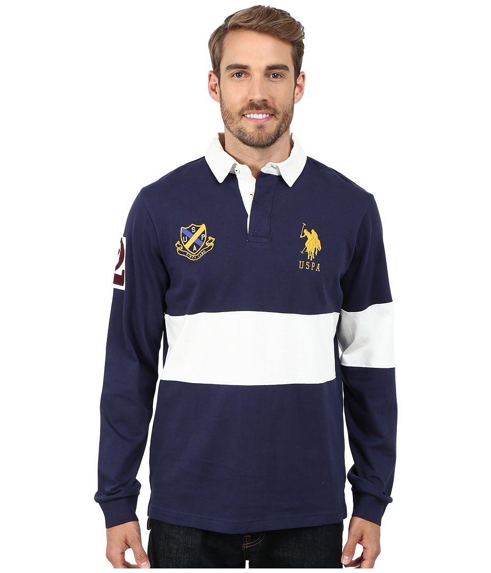 U.S. POLO ASSN. - Rugby Polo (Classic Navy) Men's Short Sleeve Pullover