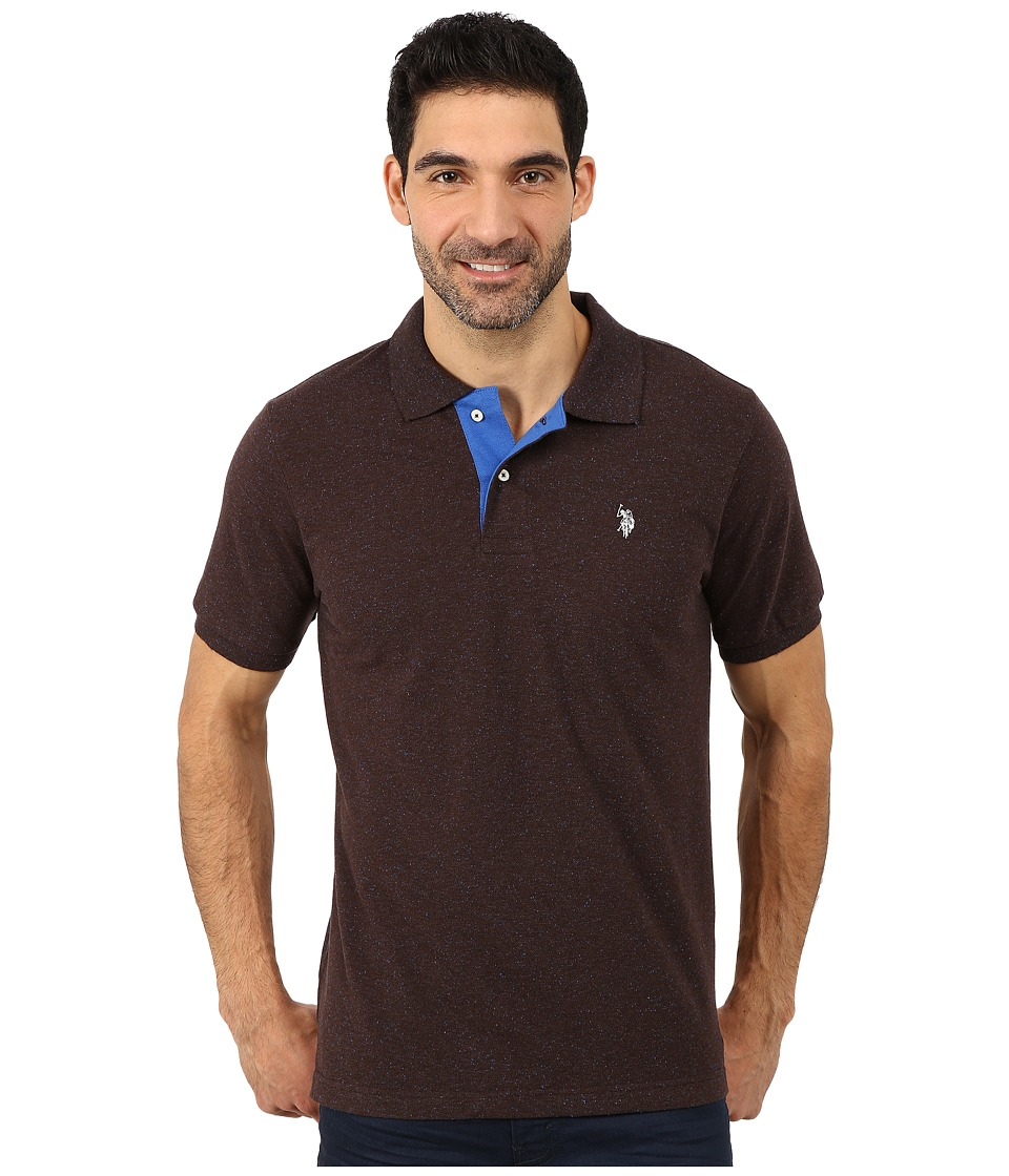 U.S. POLO ASSN. - Fleck Pique Polo (Bootstrap Fleck) Men's Short Sleeve Pullover