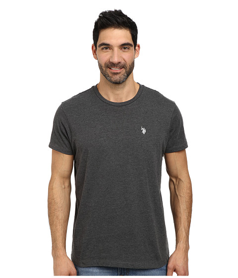 U.S. POLO ASSN. - Crew Neck Small Pony T-Shirt (Heather Dark Gray) Men's Short Sleeve Pullover