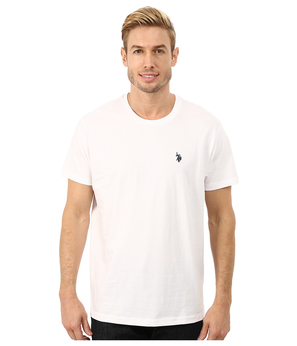 U.S. POLO ASSN. - Crew Neck Small Pony T-Shirt (White) Men's Short Sleeve Pullover
