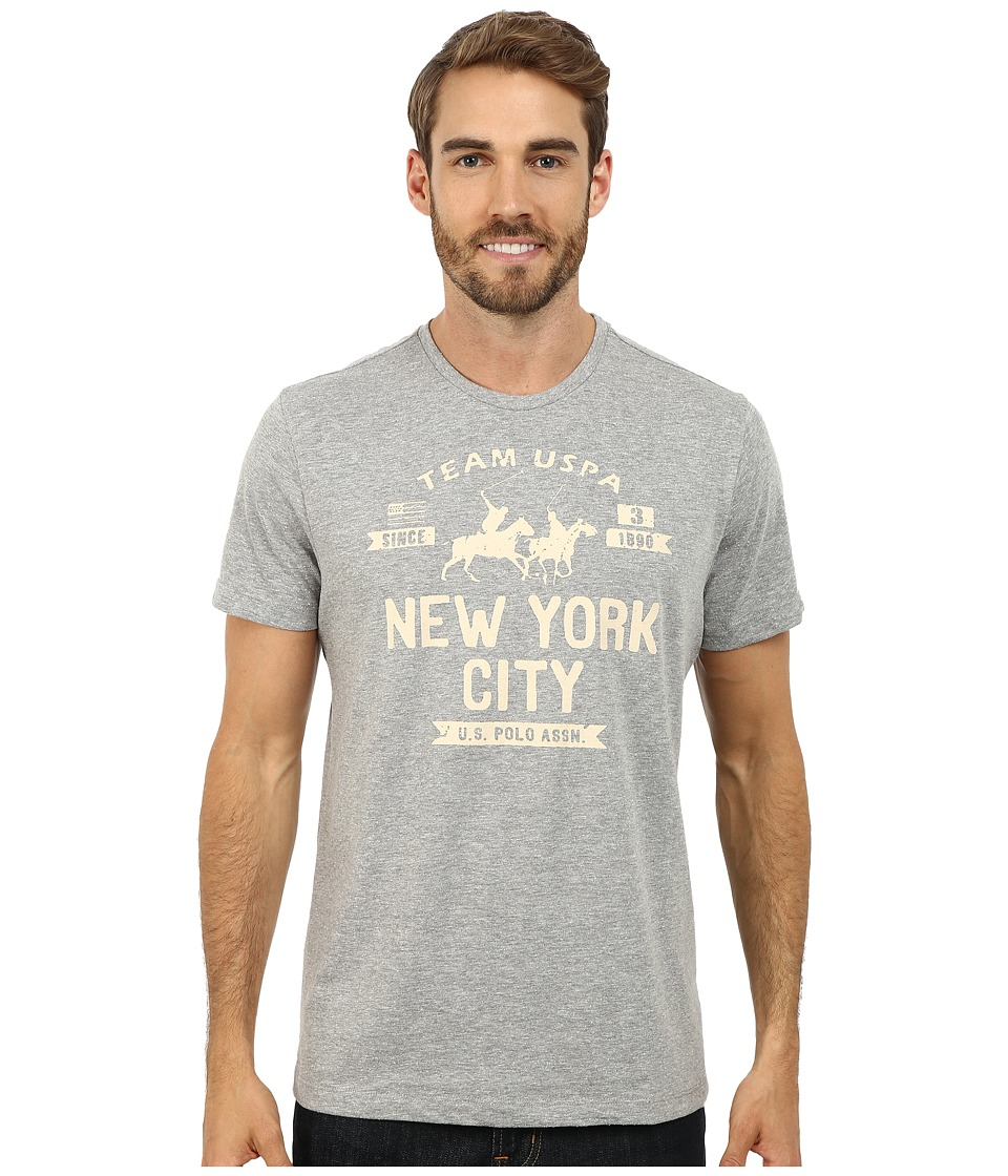 U.S. POLO ASSN. - New York City Team USPA T-Shirt (Heather Gray) Men's T Shirt