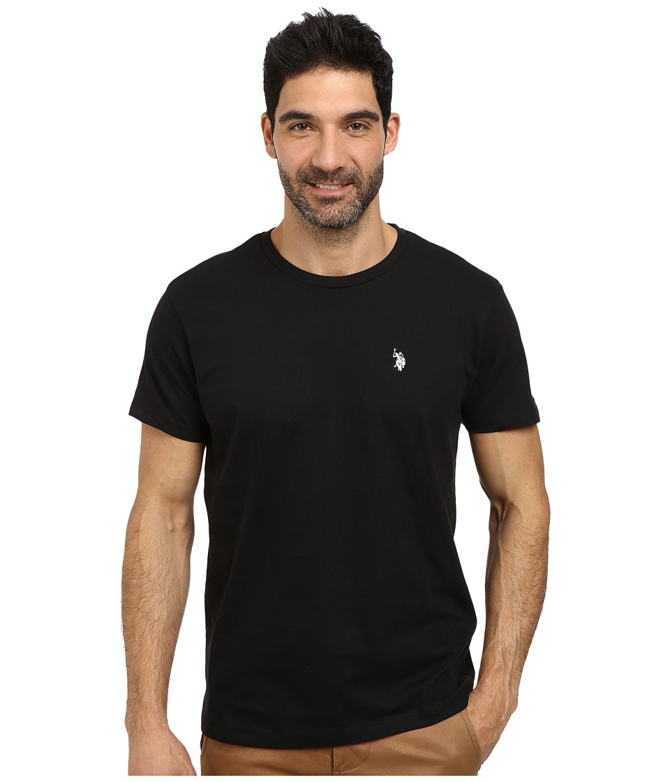 U.S. POLO ASSN. - Crew Neck Small Pony T-Shirt (Black) Men's Short Sleeve Pullover