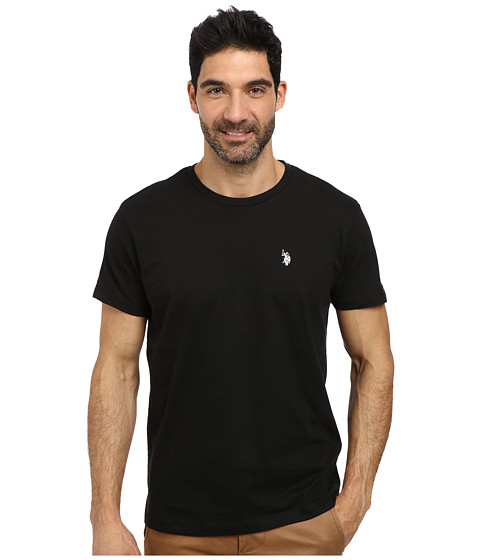 U.S. POLO ASSN. - Crew Neck Small Pony T-Shirt (Black) Men