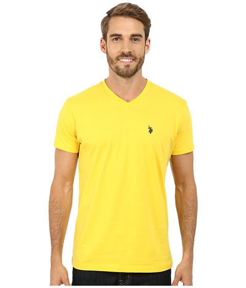 U.S. POLO ASSN. - V-Neck Short Sleeve T-Shirt (Preppy Yellow) Men's Short Sleeve Pullover