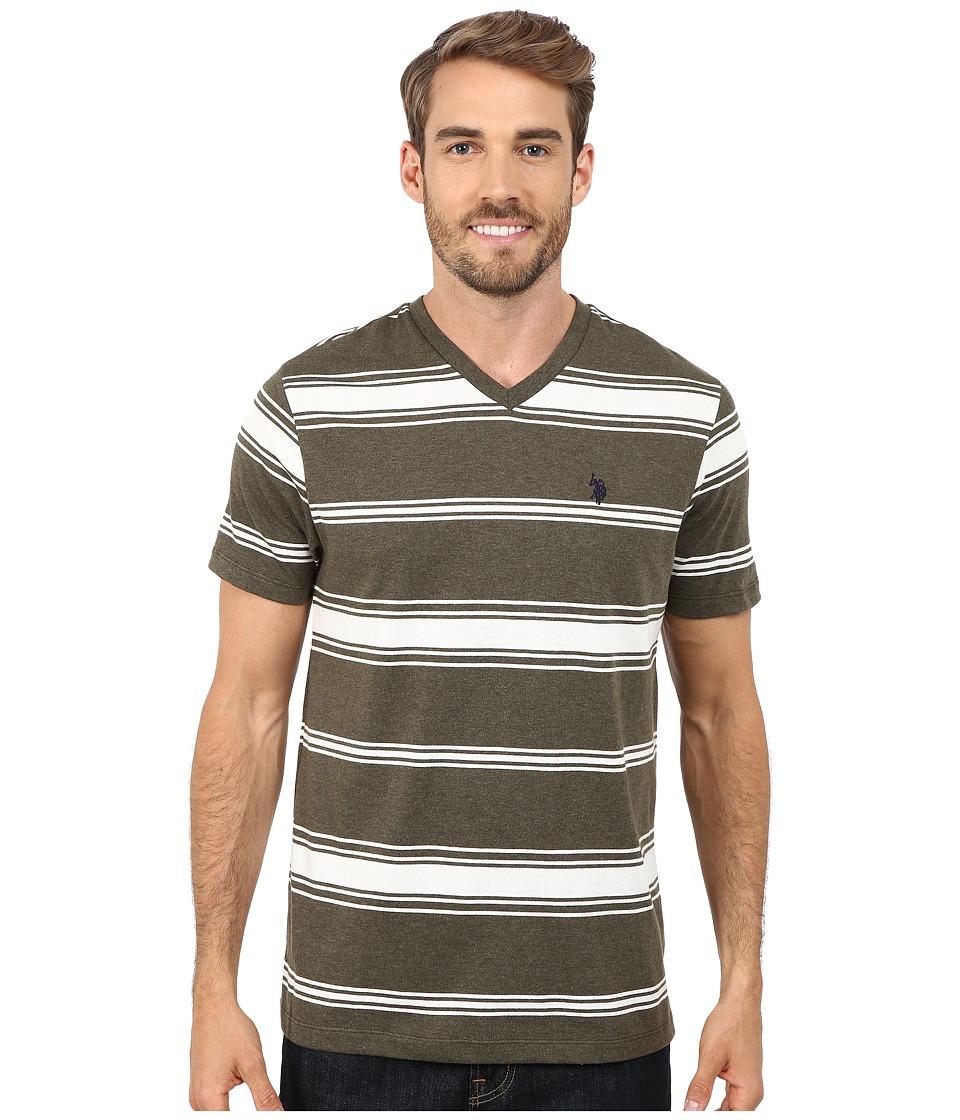 U.S. POLO ASSN. - Stiriped T-Shirt (Hemlock Heather) Men's T Shirt