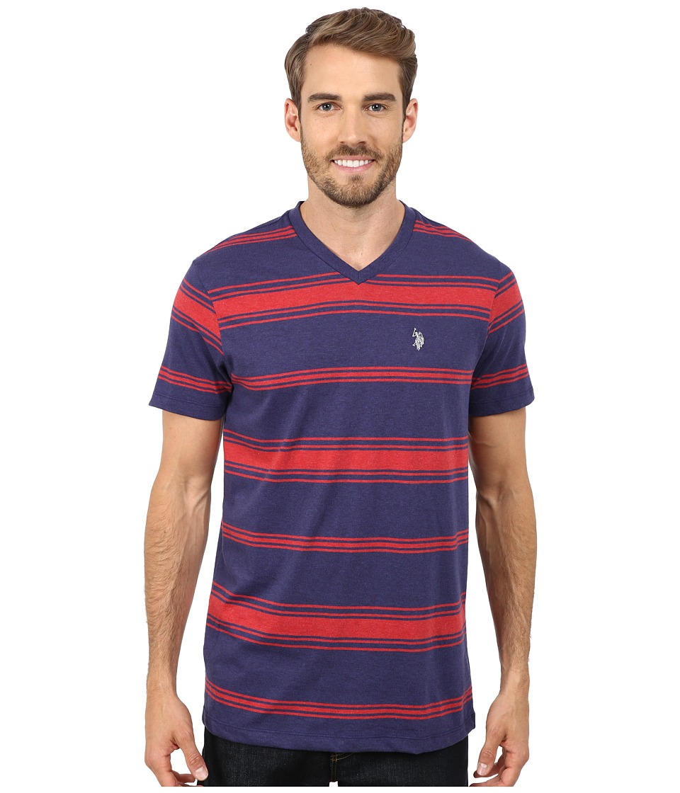 U.S. POLO ASSN. - Stiriped T-Shirt (Dodger Blue) Men's T Shirt