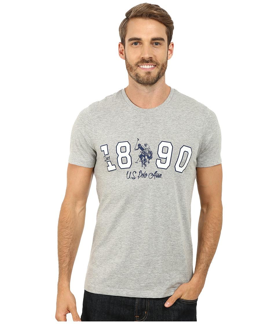 U.S. POLO ASSN. - U.S. Polo Assn. Since 1890 T-Shirt (Heather Gray) Men's T Shirt