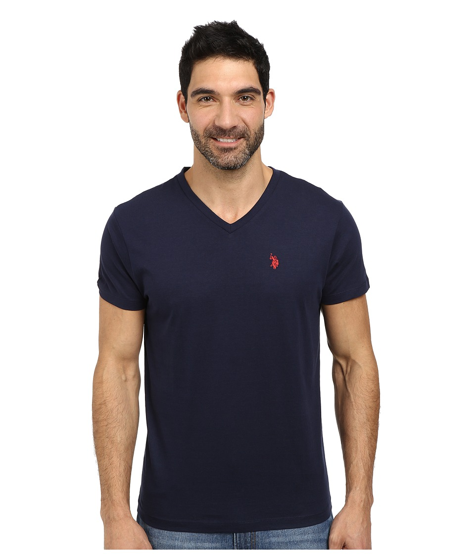 U.S. POLO ASSN. - V-Neck Short Sleeve T-Shirt (Classic Navy) Men's Short Sleeve Pullover