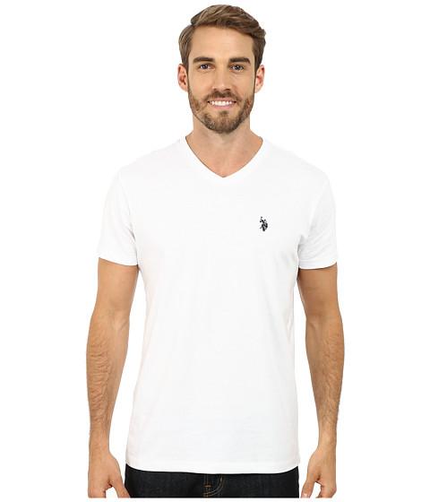 U.S. POLO ASSN. - V-Neck Short Sleeve T-Shirt (White) Men