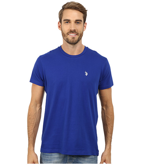 U.S. POLO ASSN. - Crew Neck Small Pony T-Shirt (International Blue) Men's Short Sleeve Pullover