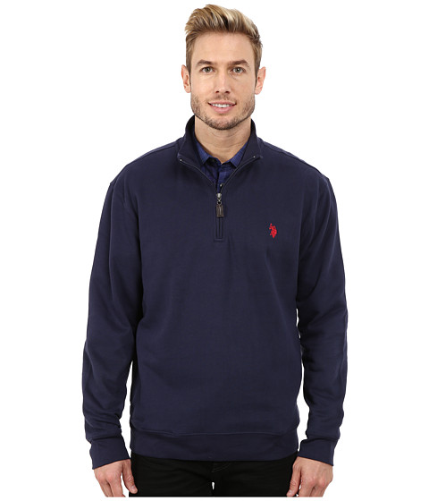 U.S. POLO ASSN. - Fleece 1/4 Zip Pullover (Classic Navy) Men