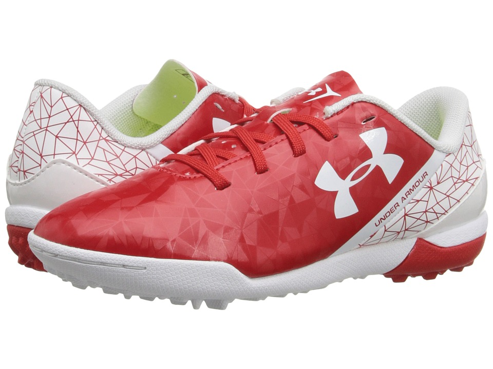 Under Armour Kids - UA SF Flash TR Jr. Soccer (Little Kid/Big Kid) (Risk Red/White/High-Vis Yellow) Kids Shoes