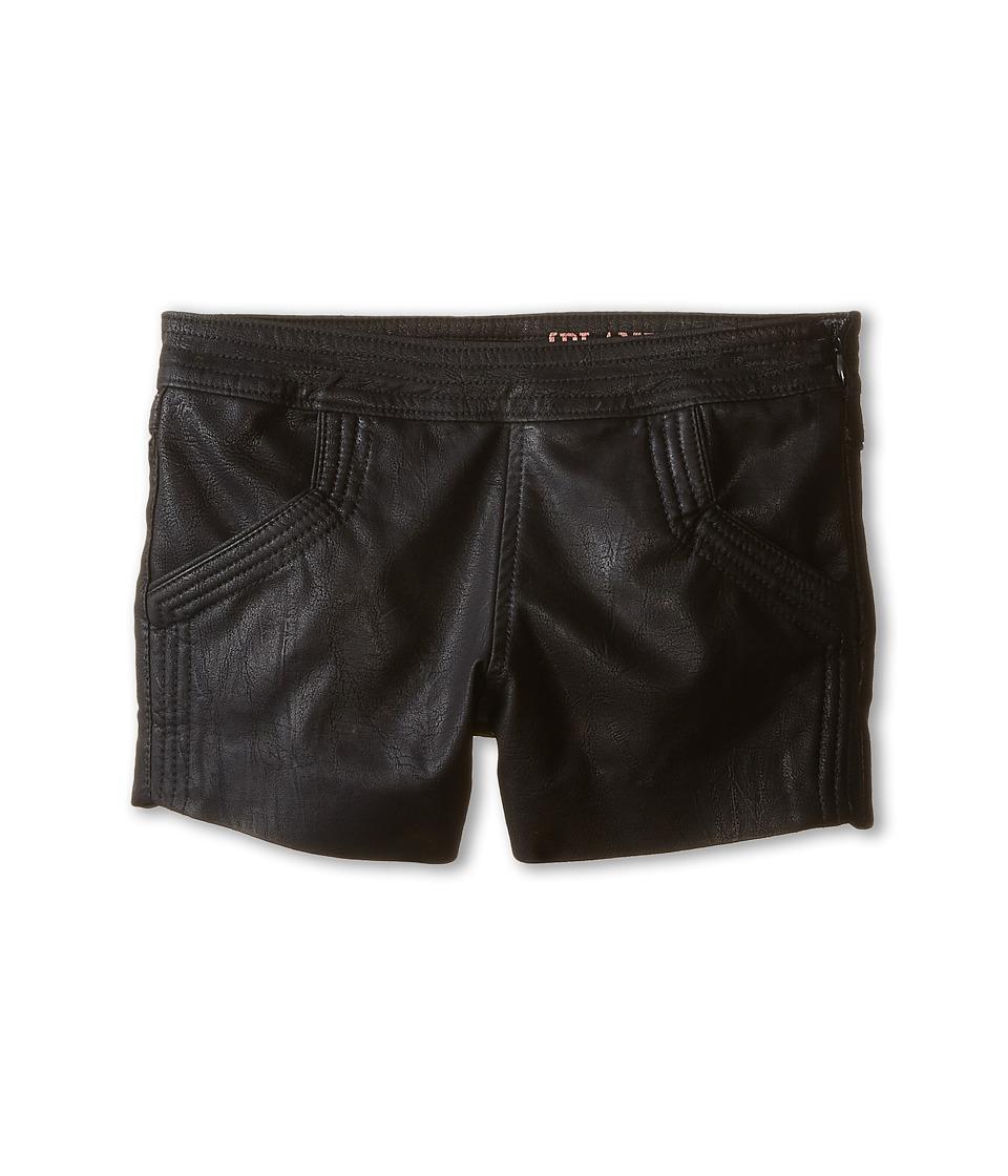 Blank NYC Kids - Netflix Boyfriend Vegan Leather Shorts (Big Kids) (Netflix) Girl