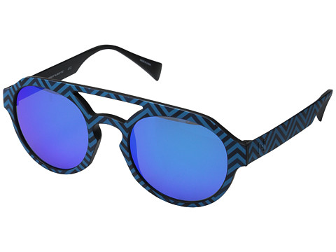 Italia Independent - IS005 (Stripe/Sky Led) Fashion Sunglasses