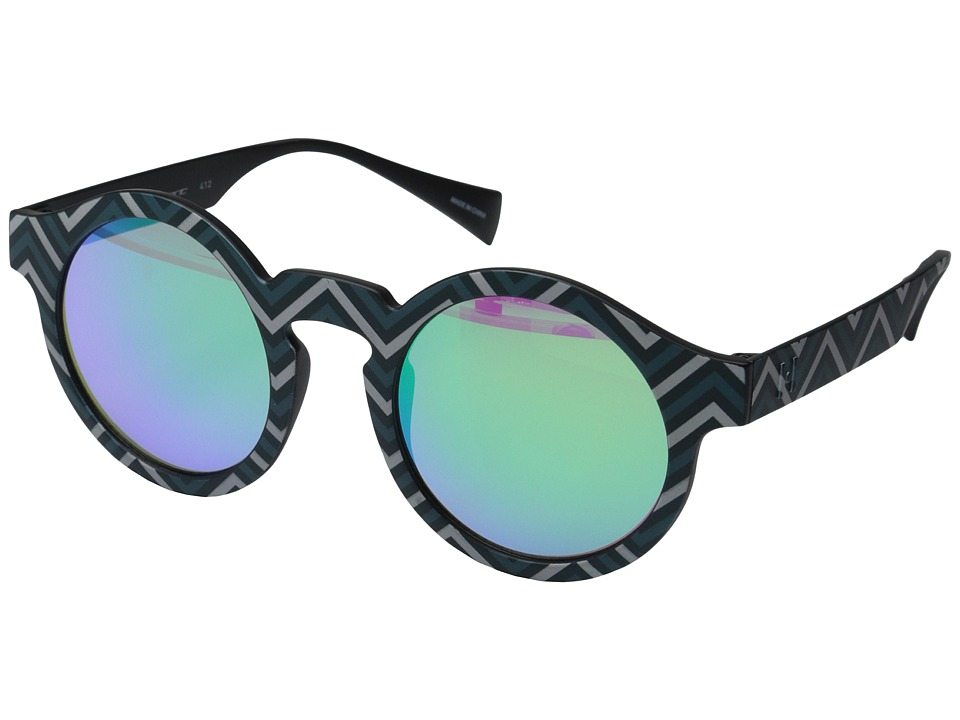 Italia Independent - IS004 (Stripe/Green) Fashion Sunglasses
