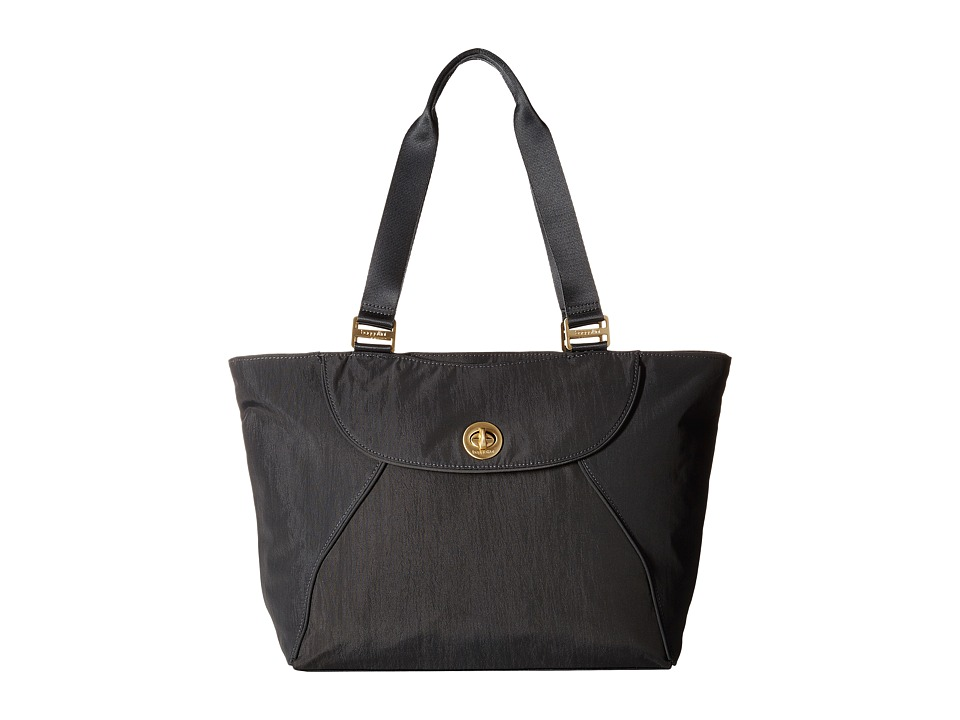Baggallini - Gold Alberta Tote (Charcoal) Tote Handbags