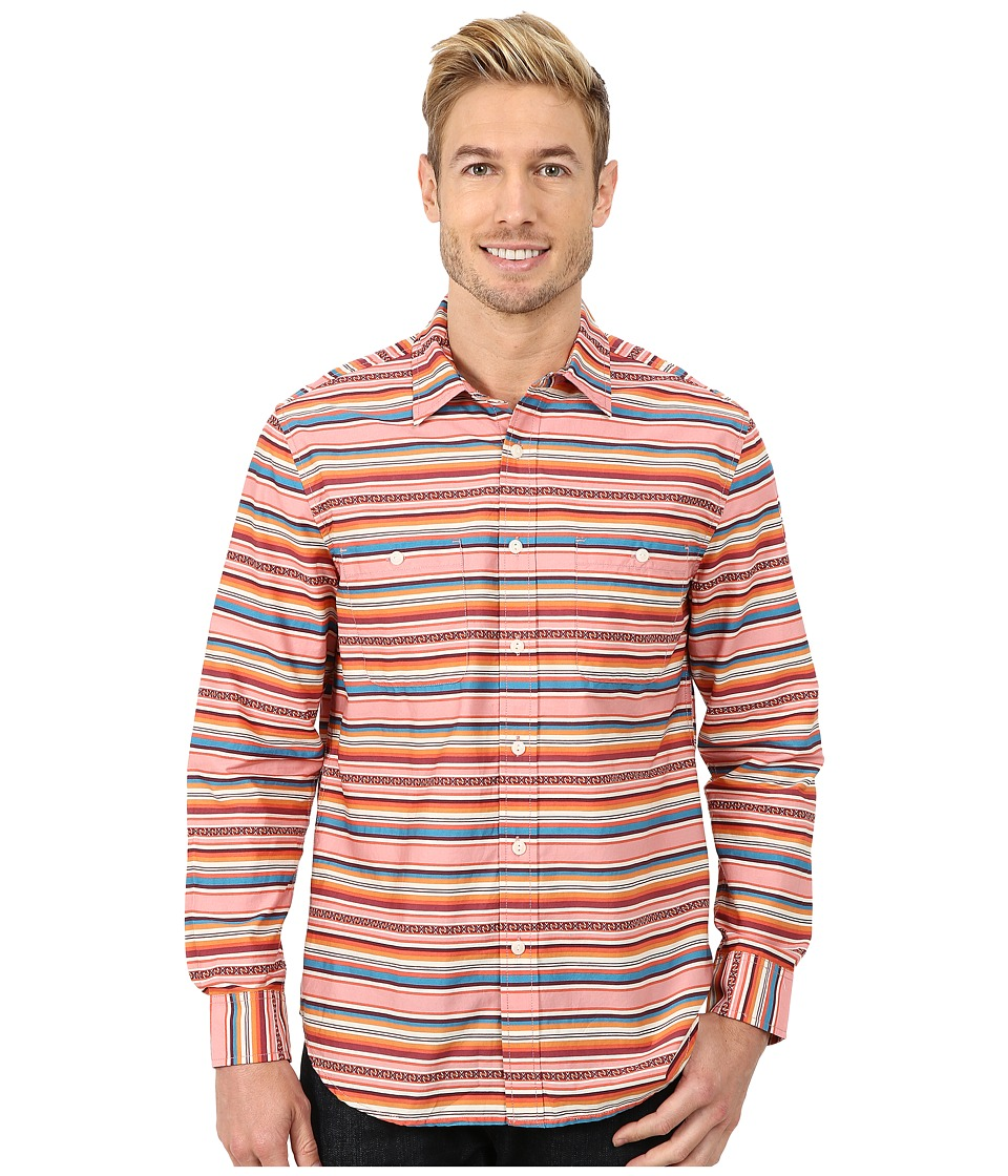 Pendleton - Long Sleeve Serape Stripe Shirt (Salmonberry Multi Stripe) Men