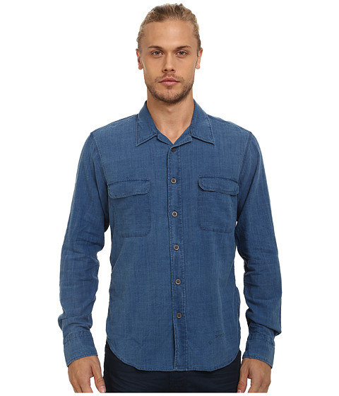 Gant Rugger - R. Indigo Slub Shirt (Light Indigo) Men's Clothing