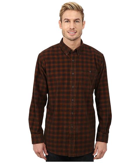 Pendleton - Long Sleeve Fitted Wayne Shirt (Brown/Rust Windowpane) Men