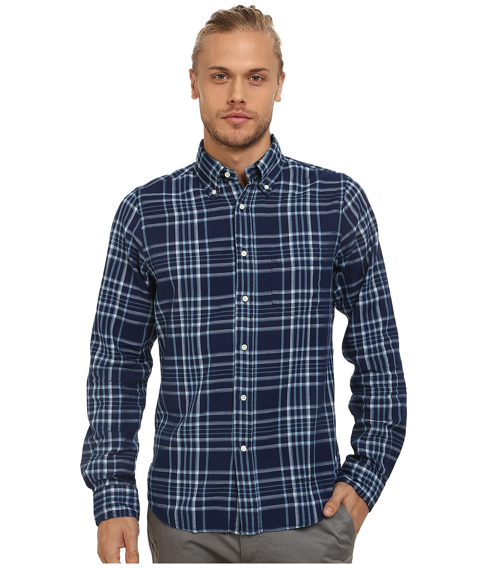 Gant Rugger - R. Indigo Oxford Hugger (FIT) Oxford Button Down (Dark Indigo) Men