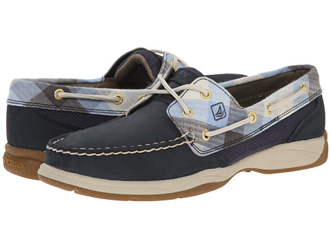 Sperry Top-Sider - Intrepid 2-Eye (Navy/Gingham) Women