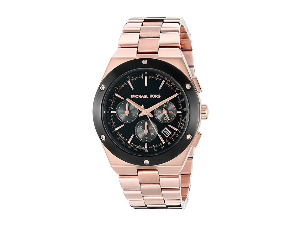 Michael Kors - Reagan (MK6208 - Rose Gold/Black) Watches