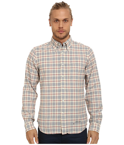 Gant Rugger - R. Fluffy Oxford Hugger (FIT) Oxford Button Down (Dark Khaki) Men's Long Sleeve Button Up