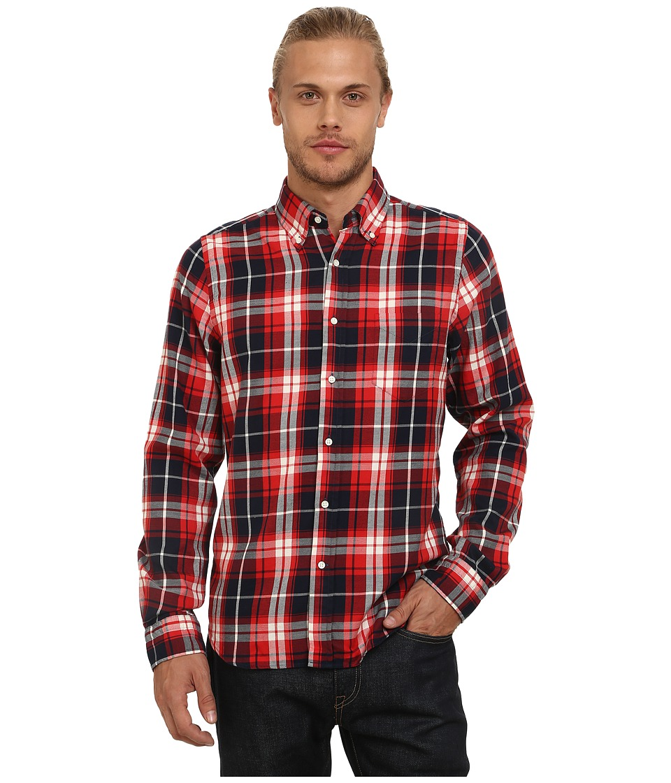 Gant Rugger - R. Windblown Twill (Chilli Red) Men's Long Sleeve Button Up