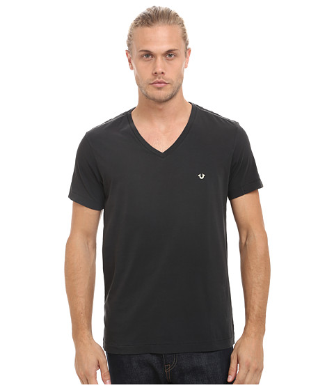True Religion - V-Neck Tee (Jet Black) Men