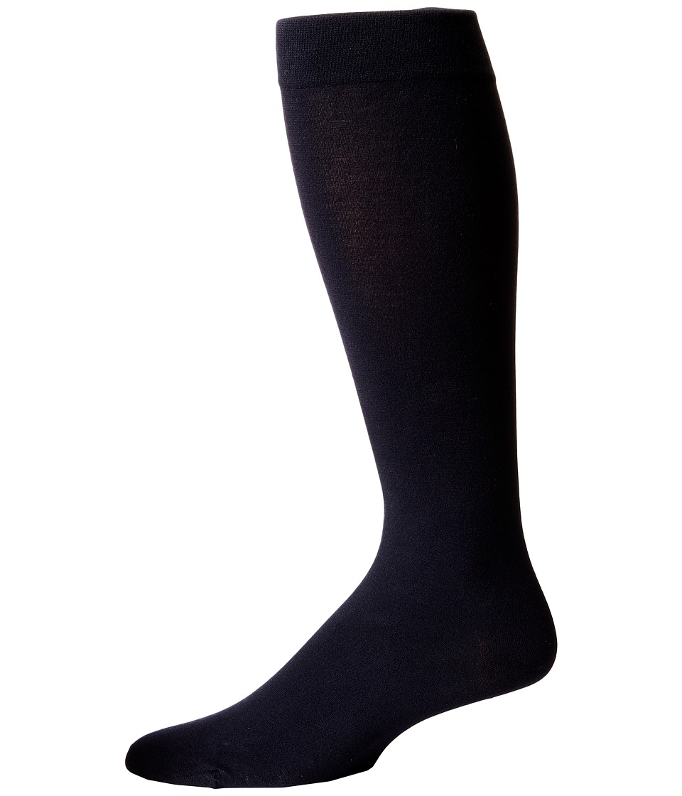Wolford - Cotton Velvet Knee-Highs (Admiral) Men's Knee High Socks Shoes