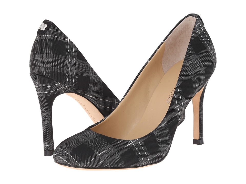 Ivanka Trump Janie3 Black-Grey-Plaid High Heels
