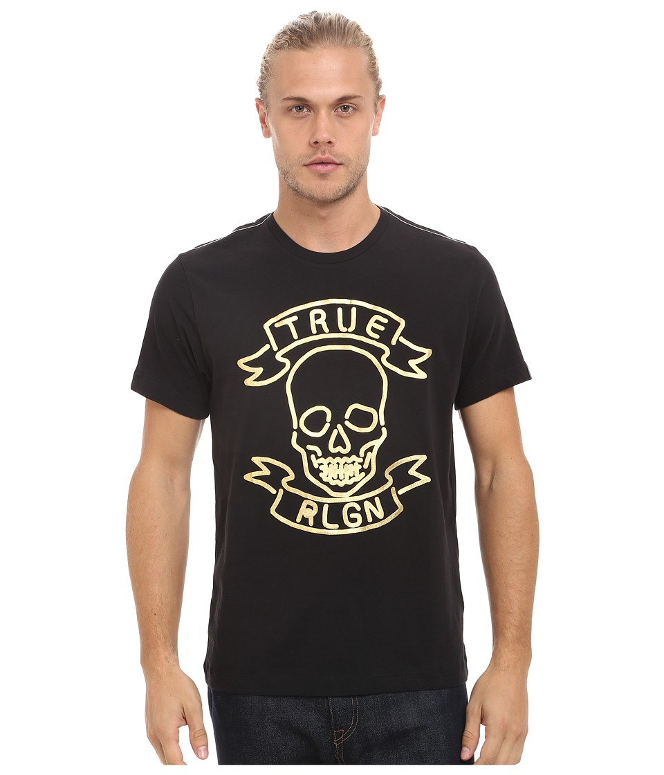 True Religion - Neon Skull Tee (Jet Black) Men's T Shirt
