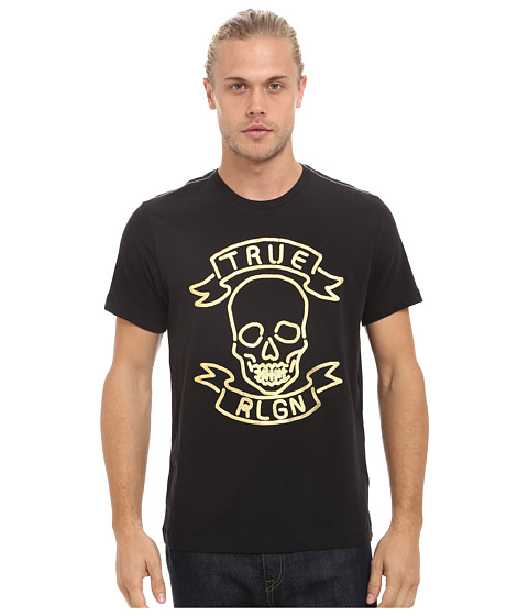 True Religion - Neon Skull Tee (Jet Black) Men